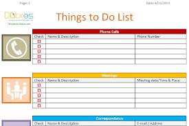 To Do List Template Business Version Dotxes
