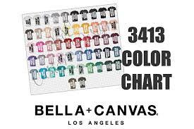 Bella 3413 Unisex Triblend T Shirt Color Chart