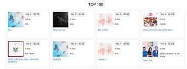 U S Itunes Kpop Songs Chart Pop Charts Itunes Kpop