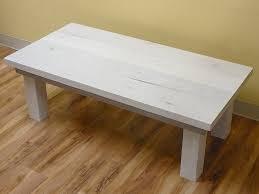 2 x 4 coffee table white wash