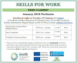 Skills For Work Skills For Work Portlaoise Further Education Training Centre