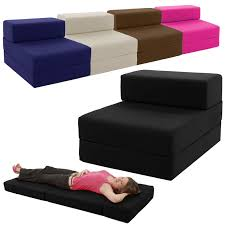 single chair bed z guest fold out futon sofa chairbed lounger matress foam gilda