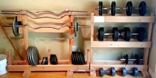 diy dumbbell storage make gym rack diy dumbbell storage