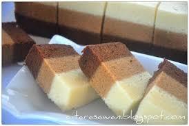 Kek Kukus Coklat Mocha Putih Telur Resepi Terbaik Kue