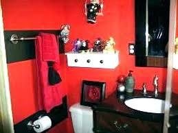 red bathroom decor ideas and white unique black decorating bat decorative towels sox set red bathroom decor black and cream ideas