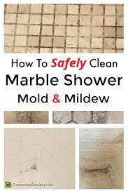 cleaning marble tile shower mildew