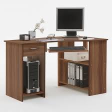 Felix Home Office Wooden Corner Computer Desk In Plumtree