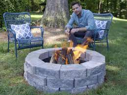 build a fire pit in a few hours for