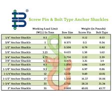 Cm Shackle Chart 1 1 4 Screw Pin Anchor Shackle Spa Van Beest 12 Ton Capacity