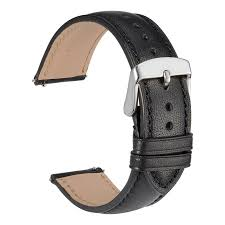hover on image to enlarge wocci full grain leather watch band 18mm 20mm or 22mm quick release watch strap black