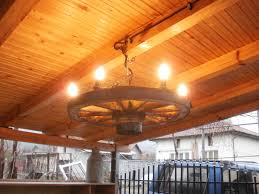 picture of wagon wheel chandelier