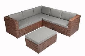 Baner Garden (K35-BR) 4 Pieces Outdoor Furniture Complete Patio Cushion Wicker Rattan