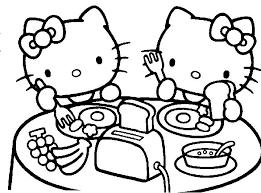 Disegni Da Colorare Hello Kitty Hello Kitty E Mimmi White Fanno