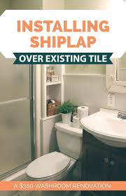 Seattle Bathroom Remodeling Extraordinary 48 Bathroom Remodel Installing Shiplap Or Paneling Over Tile