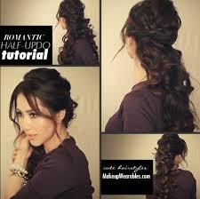 Half Ponytail Hairstyles Easy Fancy Looking Curly Half Up Hairstyle Long Hair Tutorial Video