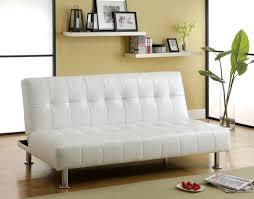modern orange vinyl convertible sofa bed