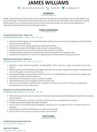 Resume For A Nursing Assistant CNA Resume Sample ResumeLift 20