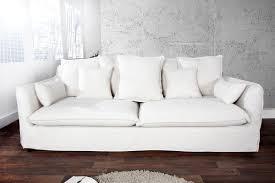 Casa Padrino Designer Wohnzimmer 3er Sofa Weiss Luxus Qualität