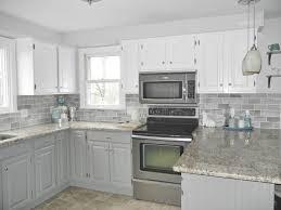 subway tile backsplash 2. Oak Kitchen Makeover - 2 Toned Gray And White Cabinets Subway Tile (for Backsplash K