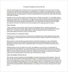 template literature review