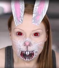 bunny costume face makeup 15 diy snapchat filter costumes best ideas for snapchat makeup