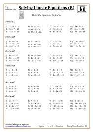 Grade 7th Grade Algebra Worksheets 7th Grade Math Worksheets Ideas ...