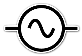 alternating current symbol. ac alternating current symbol sticker l