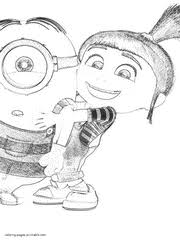 Small Picture 100 ideas Despicable Me Agnes Coloring Pages on
