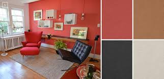 Living Room Paint Combination Living Room Colour Schemes Red Modern Minimalist Home Interior