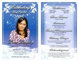 Printable Funeral Program Template Memorial Obituary Editable With