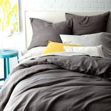 gray linen bedding grey crib duvet cover shams slate in bed stripe linen duvet set gray bedding grey sets