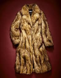 fake in this margot tenenbaum esque coat made of acetate not fox fur