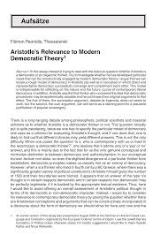 aristotle s relevance to modern democratic theory pdf  aristotle s relevance to modern democratic theory pdf available