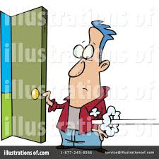 open doors clipart. Royalty-Free (RF) Open Door Clipart Illustration #438635 By Toonaday Doors