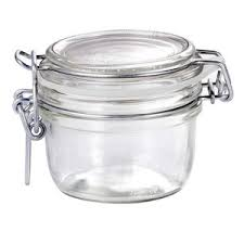 Decorative Glass Jars With Lids 1000010010000 oz Decorative Glass Bale Jar Cute jelly jar Kitchen Krafts 80