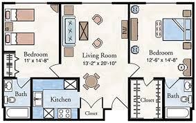 Download 2 Bedroom Apartment Plans  WaterfaucetsApartments Floor Plans 2 Bedrooms