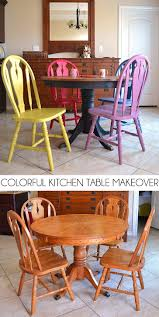 Kitchen Table Makeover Colorful Kitchen Table Makeover Dream A Little Bigger