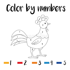 Blippi coloring pages are now available 24 blippi coloring sheets of the animals and machines. Coloring Page Color By Numbers Educational Children Game Drawing Kids Activity Printable Sheet Animals Theme Stock Vector Illustration Of Activity Kindergarten 170851011
