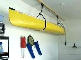 kayak rack for garage garage kayak storage canoe hoist for your up and away lift you kayak rack for garage