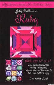 Equilter Birthstone Pattern - July Ruby - By Mj Kinman