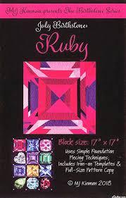 Equilter Birthstone Pattern - July Ruby - By Mj Kinman