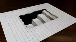 1280x720 simple 3d drawings on paper with pencil how to draw 3d steps in