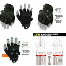Mechanix M Pact Size Chart Details About Mechanix Wear M Pact Fingerless Covert Tactical Gloves Large Black
