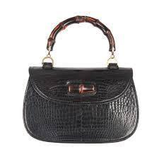 gucci vintage. gucci vintage black crocodile leather bamboo bag top handle handbag 1 gucci c