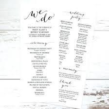 Wedding Programs Template Atlasapp Co