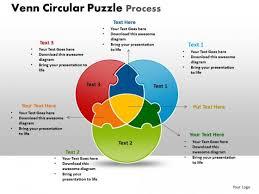 Diagram Venn Ppt Powerpoint Template Chart Venn Circular Puzzle Process