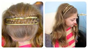 Easy Hair Style For Girl double braid sparkly headband cute girls hairstyles youtube 2743 by wearticles.com