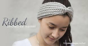 Crochet Ear Warmer Pattern Best Ribbed Cinched Ear Warmer Pattern Little Monkeys Crochet