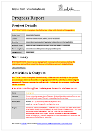 fundraising report template progress report template tools4dev