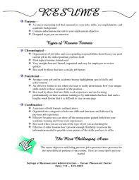 Proper Resume Format Resume Formats Template Yralaska Com